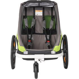 Hamax Traveller Przyczepka rowerowa wraz z dyszlem do roweru i kołem wózka, green/grey